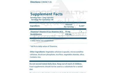 Benfothiamine: Απαραίτητη για τους διαβητικούς