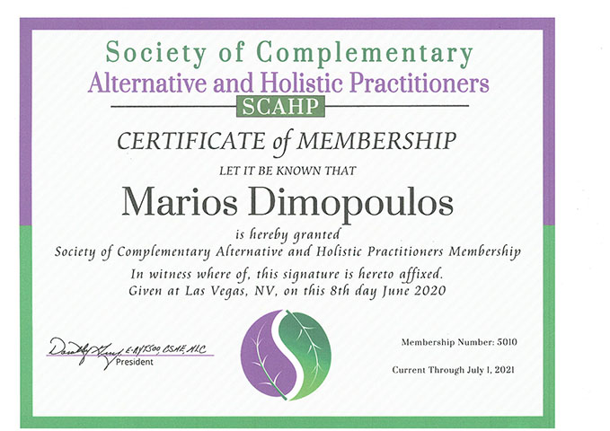 society of complementary alternative and holistic practitioners 679