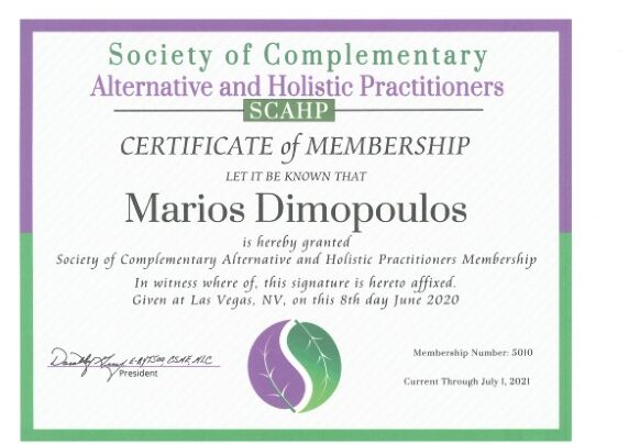 society of complementary alternative and holistic practitioners